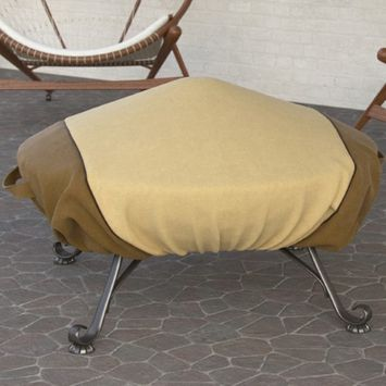 Dura Covers Fade Proof Two Tone 60' Heavy Duty Round Fire Pit Cover - Durable and Water Resistant Firepit Cover, Large