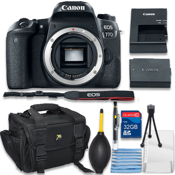 Als Variety Canon EOS Rebel 77D Digital SLR Camera Body Only Bundle includes Camera, 32GB Memory Card, Bag, Cleaning Kit