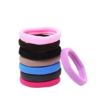 8PCS Ponytail Elastic Stretchy Hairband-Hair Styling Tools Essential Rubber Band(Mixed Color)