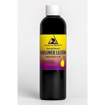 Lecithin Sunflower Unbleached Fluid Liquid Emulsifier Emollient Stabilizer Pure 4 oz