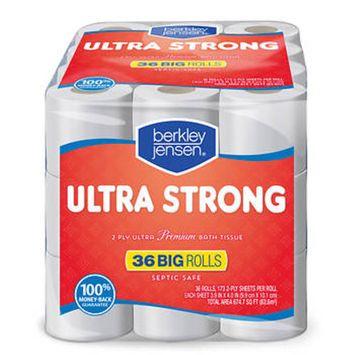 Berkley Jensen Ultra Strong 173-Sheet 2-Ply Premium Bath Tissue, 36 pk.