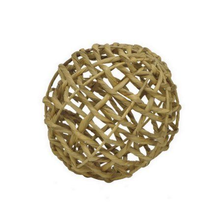 """Three Hands Water Hyacinth Orb (12""""), Gold"""