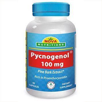 Pycnogenol 100 mg 60 Capsules by Nova Nutritions