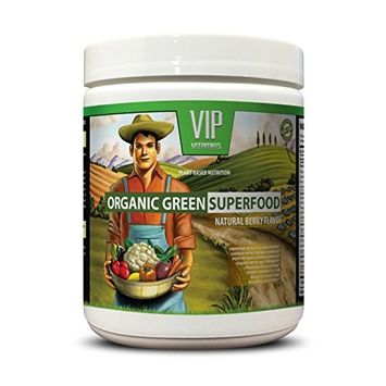 Organic alfalfa seeds - ORGANIC GREEN SUPERFOOD NATURAL BERRY FLAVOR - varicose veins supplement 30 Servings 276 Grams 9. 7 Oz