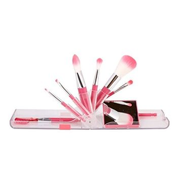 CORINGCO Makeup Brushes 9 PCs Makeup Brush Set - Pink Collection Takeout Makeup Brushes Kit