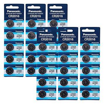 Panasonic CR2016 3V Lithium Battery 6PACK X (5PCS) = 30 Single Use Batteries