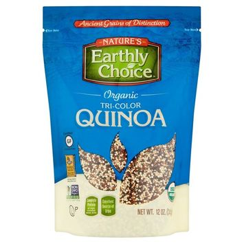 Nature's Earthly Choice Organic Tri-Color Quinoa, 12 oz, 6 pack