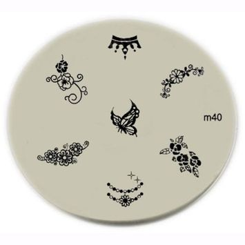 Konad Stamping Nail Art Image Plate - M40