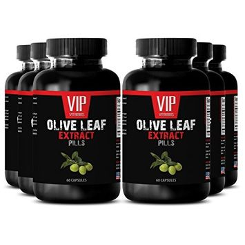 Blood sugar support - OLIVE LEAF EXTRACT - Blood sugar health - 6 Bottles 360 Capsules