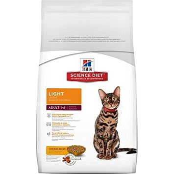Hill's Science Diet Cat Food for Healthy Weight and Weight Management [Chicken Recipe, Light Dry]