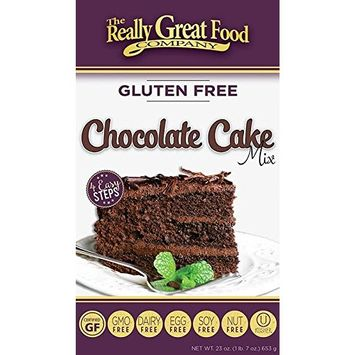 Really Great Food Company – Gluten Free Chocolate Cake Mix – 23 ounce box - No Nuts, Soy, Dairy, Eggs - Vegan Kosher and Non-GMO [Chocolate]