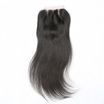 Beata Hair 3 Part Brazilian Lace Closure Straight Bleached Knots with Baby Hair 16inch