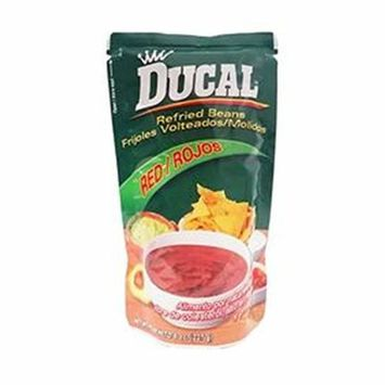 Ducal Refried Red Beans 8 oz Frijoles Rojos Volteados