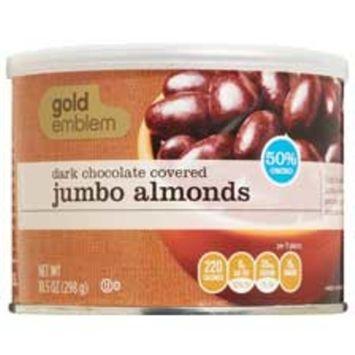 Gold Emblem Dark Chocolate Covered Almonds, 9.5 OZ
