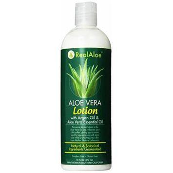Real Aloe Lotion, Aloe Vera, 16 Fluid Ounce