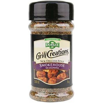 Durkee Grill Creations Seasoning 2.4oz - 4.6oz Bottle (Pack of 3) Choose Flavor Below (New Orleans Style Smokehouse Seasoning 2.6oz)