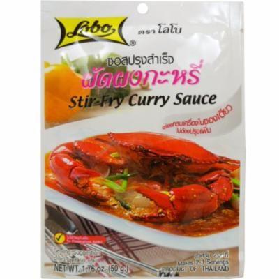 Stir-fry Curry Sauce (Pad Pong Karee)net Wt 50g (1.76 Oz) Thai Herbal Food Lobo Brand X 8 Bags
