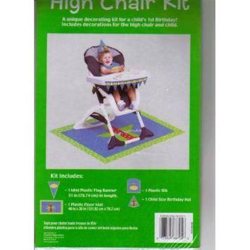 1st Birthday Boy Highchair Kit