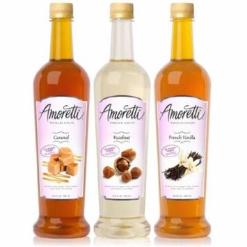 Amoretti Premium Sugar-free Classic Flavorings 750ml 3 Pack