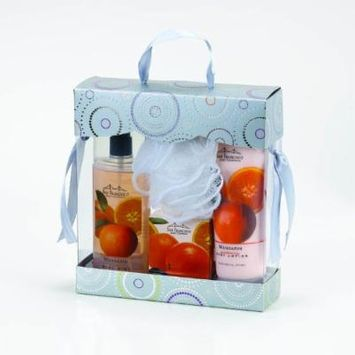 San Francisco Soap Company Bath and Body Gift Boxed 4 Piece Set (Mandarin)