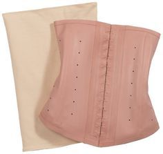 Squeem Shapewear High Compression Latex Waist Cincher Nude Small Pink