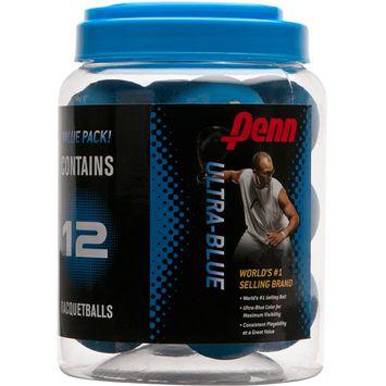 PENN Ultra-Blue Racquetballs - 12-Pack