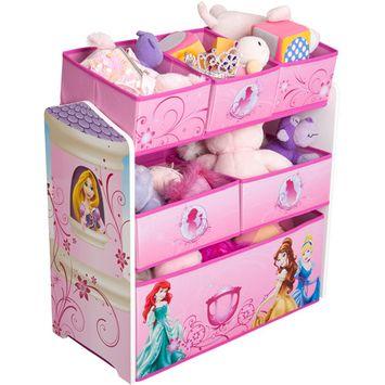 Disney Princess Multi-Bin Toy Organizer, Pink