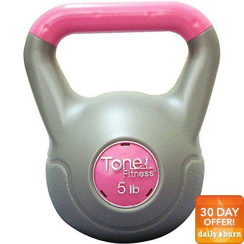 Cap Barbell SDKC-TN005 Tone Fitness 5 lb Vinyl Kettlebell