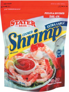 Stater bros Peeled & Deveined Tail-On Cooked Extra Large 450 Shrimp
