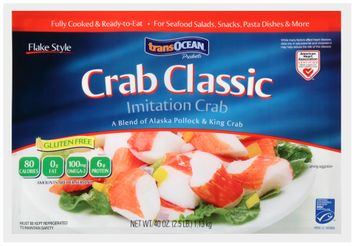 trans-ocean® crab classic flake style imitation crab