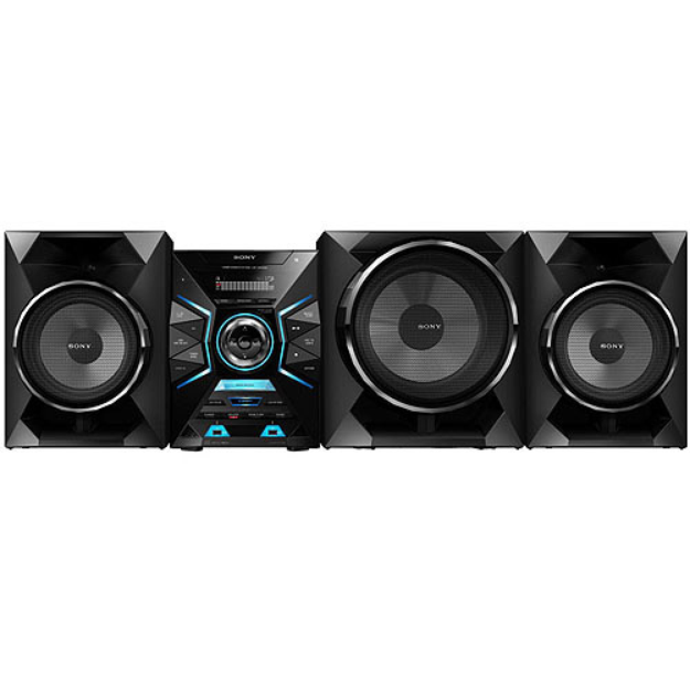 Sony SONY LBT-GPX55 1600 Watts 3-Way Mini System with Bluetooth & NFC, Includes Passive Subwoofer, Two 2-Way Speakers, CD Player and Digital AM/FM Tuner