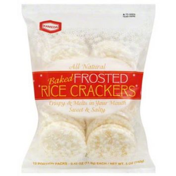 Kameda Baked Frosted Rice Crackers, 5 oz (Pack of 6)