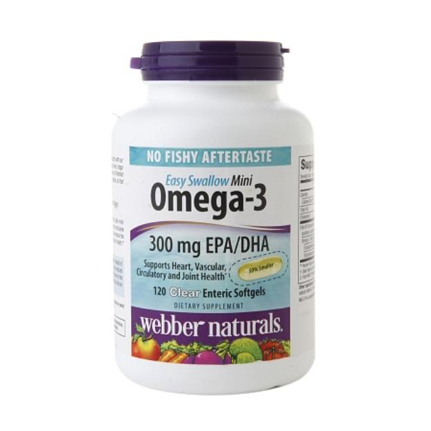 Webber Naturals Easy Swallow Mini Omega-3 300mg, Softgels