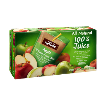 Back to Nature All Natural 100% Apple Juice - 10 PK