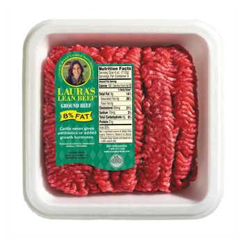 Laura's Lean Beef 8% Fat Ground Beef 1-lb.