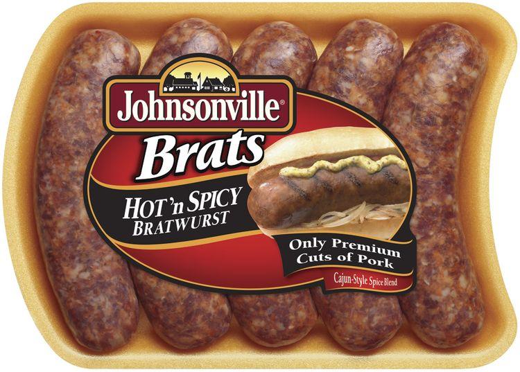 Johnsonville Hot N' Spicy Brats 19oz tray (101324, 101345)