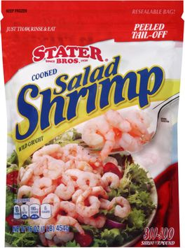 stater bros® peeled tail-off cooked salad shrimp