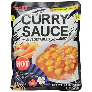 S B S&B Curry Sauce with Vegetables Hot, 7.4-Ounce (Pack of 10)