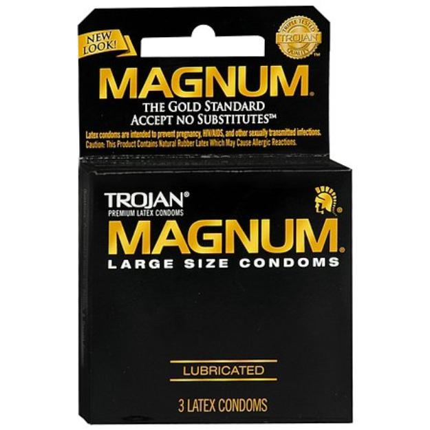 Trojan Magnum Lubricated Premium Latex Condoms