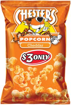 chester's® cheddar popcorn $3 prepriced