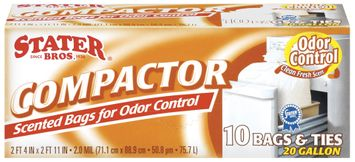 Stater Bros. Scented For Odor Control 20 Gallon Compactor Bags 10 Ct Box