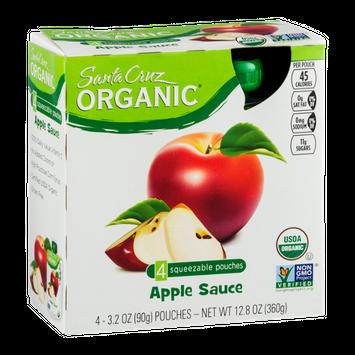 Santa Cruz Organic Apple Sauce Squeezable Pouches - 4 CT