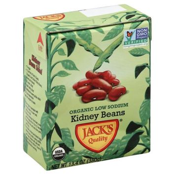 Jack's Jacks 2395 Quality Organic Ls Kidney Beans Case Of 16