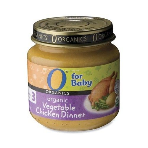 O Organics for Baby Organic Vegetable Chicken Dinner, Stage 3, 4-Ounce Jars (Pack of 12)