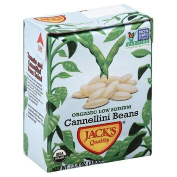 Jack's Jacks 2397 Quality Organic Ls Cannellini Beans Case Of 16