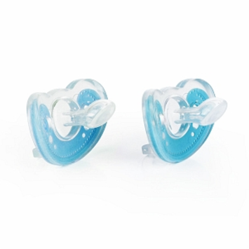 The First Years GumDrop Orthodontic Pacifier, Blue, 2 ea