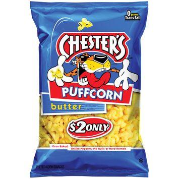 Chester's Puffcorn Butter Puffed Corn Snacks, 4.5 oz