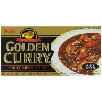 S B S&B Golden Curry Sauce Mix, Hot, 8.4-Ounce