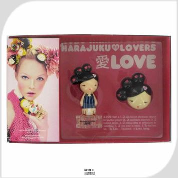 HARAJUKU LOVERS LOVE 2 PCS SET: 1 OZ EDT SP + SOLID PERFUME