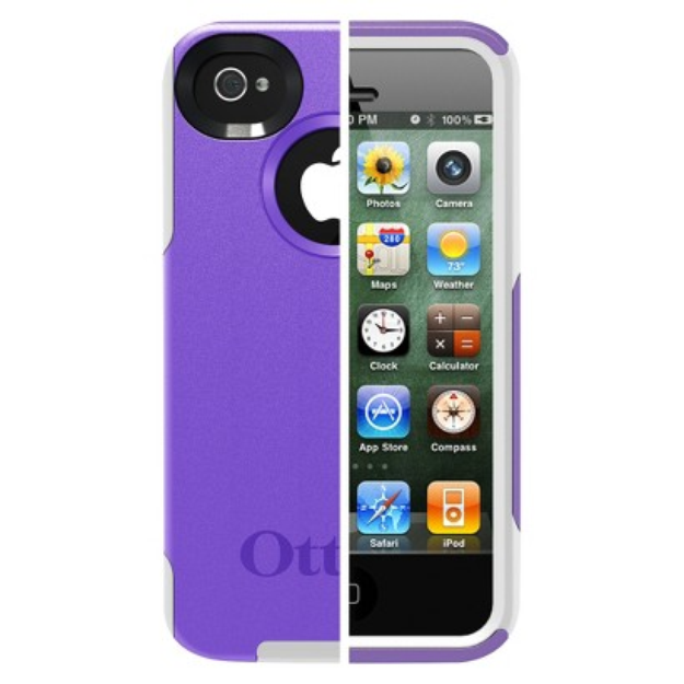 Otterbox Commuter Cell Phone Case for iPhone4/4S - Purple (77-18540P1)